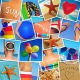Les photos de différentes scènes d'été ont tiré par me Image libre de droits