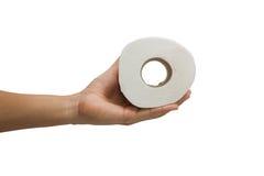 Les photos de la main d'hommes ont pris un papier de soie de soie envoyé Images libres de droits