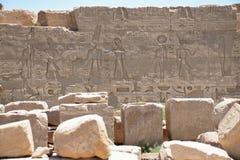 Les photos sur les murs du templeÑŽ de Louxor Égypte Photos libres de droits