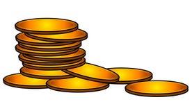 Les pièces d'or encaissent le clipart (images graphiques) d'argent Photographie stock libre de droits