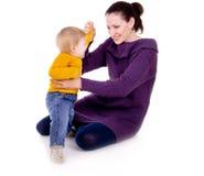 Les pièces de mère avec un enfant Photo libre de droits