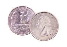 Les pièces de monnaie d'Américain Photo libre de droits