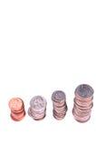 les pièces de monnaie nous empilent photo libre de droits