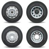 Les pièces de voiture de vecteur ont placé l'ingénieur de pneu d'affaires de pneu Photos libres de droits