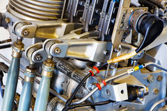 Les pièces mécaniques du vieux moteur Photo libre de droits