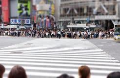 Les piétons attendent au croisement de Shibuya, Tokyo, Japon image stock