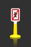 Les piétons ont interdit le poteau de signalisation Image stock