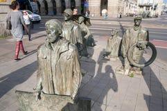 Les pi?tons anonymes - m?morial ? l'introduction de la loi martiale en Pologne image stock