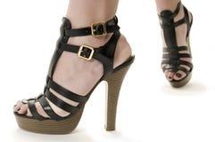 Les pieds de la femme Image libre de droits