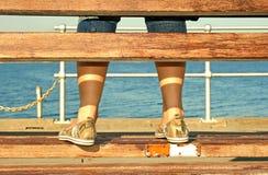 Les pieds de la fille Photos libres de droits
