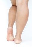 Les pieds des grosses femmes asiatiques Photographie stock libre de droits