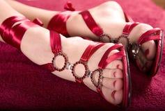 Les pieds du femme Image libre de droits