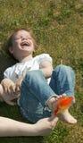 Les pieds sains sont les pieds heureux Photos libres de droits