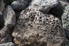 Les pierres d'une lave bascule pour un gril Photo libre de droits