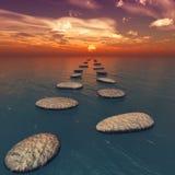 Les pierres dans l'eau Images libres de droits