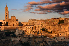 Les pierres de Matera photo stock