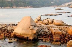 Les pierres en île de Dongao Images stock