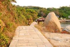 Les pierres en île de Dongao Images libres de droits