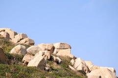 Les pierres en île de Dongao Photographie stock libre de droits