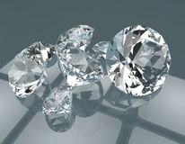 Les pierres gemmes 3d rendent Photo libre de droits