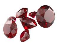 Les pierres gemmes 3d rendent Images stock