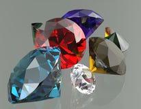 Les pierres gemmes 3d rendent Image libre de droits