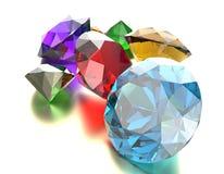 Les pierres gemmes 3d rendent Photos stock