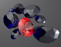Les pierres gemmes 3d rendent Photographie stock libre de droits