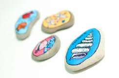 Les pierres peintes Image stock