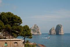 Les piles de la côte d'Amalfi de chèvres Photos libres de droits
