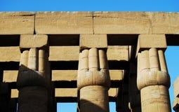 Les piliers chez le temple de Louxor, Egypte image stock
