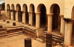 Les piliers de palais de maratha de thanjavur Photo stock