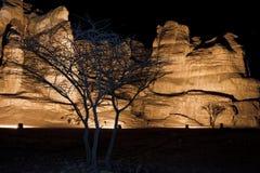 Les piliers de Solomon du stationnement de Timna Photographie stock libre de droits