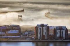 Les piliers occidentaux et est à Swansea Images libres de droits