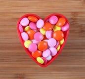 Les pilules du coeur Photographie stock