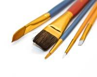 Les pinceaux des artistes Image stock