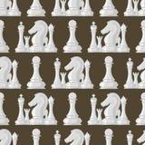 Les pions sans couture de fond de modèle d'échiquier dirigent la concurrence blanche et noire de groupe de chevalier de concept d Images stock
