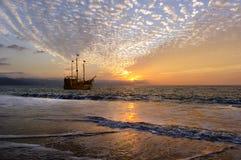 Les pirates des 04 des Caraïbes Images libres de droits