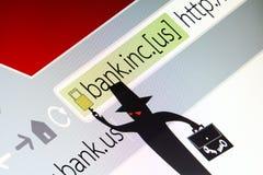 Les pirates informatiques entaillent le concept de site Web de la sécurité, photo d'éboulis image stock