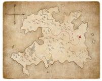 Les pirates médiévaux de trésor tracent la page d'isolement images libres de droits