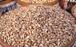 les pistaches ont rôti salé Images libres de droits