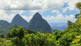 Les pitons, St Lucia photos libres de droits