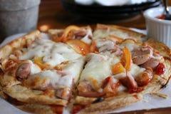 Les pizzas étaient grandes et délicieuses images libres de droits