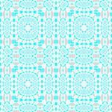 Les places et les ellipses sans couture modèlent le gris beige de bleu de turquoise Photographie stock