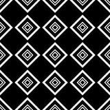 Les places noires et blanches simples forment le modèle sans couture géométrique, vecteur Photos libres de droits