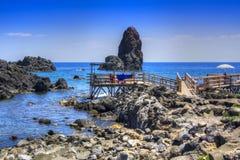 Les plages de l'interception commandée en vol Trezza photo stock