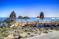 Les plages de l'interception commandée en vol Trezza image stock