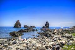 Les plages de l'interception commandée en vol Trezza photographie stock