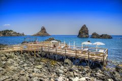 Les plages de l'interception commandée en vol Trezza image libre de droits