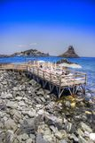 Les plages de l'interception commandée en vol Trezza photos stock